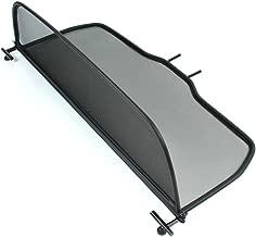 2003-2009 - Plegable Negro TiefTech Deflector de Viento para Peugeot 307 Descapotable Deflector de Aire con Cierre R/ápido Deflector de Viento Parabrisas para descapotable