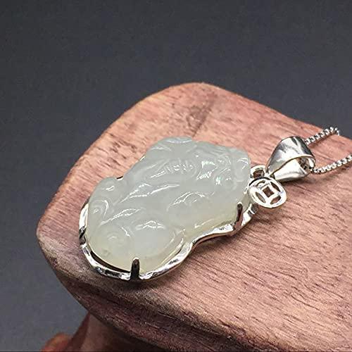 Toltec Lighting Feng Shui Jade pixiu Riqueza Colgante Collar Chakra Cristal auténtico curación Reiki luz Verde Amuleto curación Poder Chakra meditación Buena Fortuna Hombres Mujeres