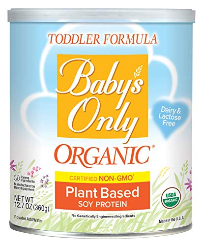 Baby's Only Soy Protein Toddler Formula, 12.7 Oz (Pack of 6) | Non GMO | USDA Organic | Clean Label Project Verified | Plant Based | Dairy & Lactose Free
