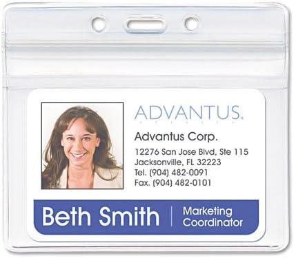 Advantus Tulsa Mall - Resealable ID Badge Holder 3 4w Horizontal x 5 2 Branded goods