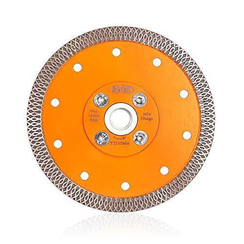 BGTEC Disco da taglio con lama diamantata turbo da 125 mm X Mesh da 1 pezzo con flangia M14 per marmo porcellana ceramica piastrelle
