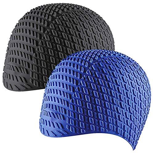 CYSJ Set 2 Pezzi Cuffia da Nuoto per la Protezione delle Orecchie 3D, Ear cap Cuffia Nuoto Unisex, in Silicone Impermeabile, di Alta qualità Atossico Antiscivolo Proteggi i Capelli