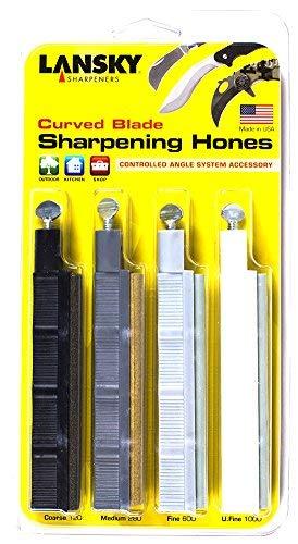 Lansky Sharpeners HRSET Curved Blade Hone Set Course to Ultra Fine