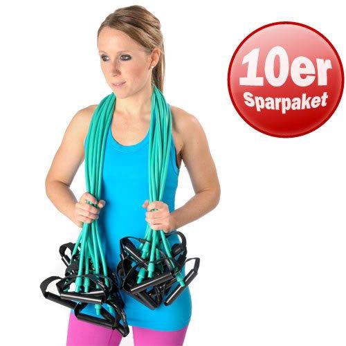 Dittmann 10er Paket Body-Tube Widerstand Training Functional Fitness Reha grün