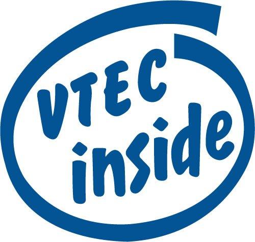 VTEC inside 抜き文字ステッカー Lサイズ ブルー