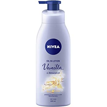 NIVEA Body Lotion, Oil in Lotion Vanilla & Almond Oil, For Dry Skin, 400ml