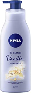 NIVEA Body Lotion, Oil in Lotion Vanilla & Almond Oil, For Dry Skin, 400ml