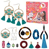 Te Sier Earrings Making Kit Comes with a Wide Range of Designs, Stoppers, Hooks & Accessories