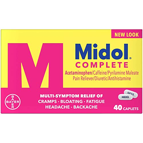 Midol Complete Menstrual Pain Relief Caplets with Acetaminophen for Menstrual Symptom Relief - 40 Count (Package May Vary)
