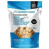 Honest Paws Calming Bites | Hemp Dog Chews | Promotes Relaxation | Safe, Organic, All-Natural Treats | Peanut Butter Flavor, 30 Chews