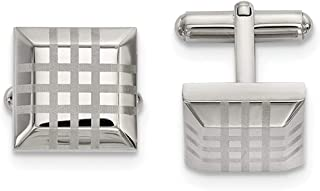 Stainless Steel Polished Cufflinks
