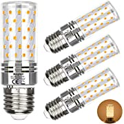 Aogled E27 LED Glühbirne Lampe 12W,Entspricht 100W Brine,Warmweiß 3000 K,1200LM Maiskolben,Kandelaber LED,Nicht Dimmbar,Kein Flackern AC85-265V,4er Pack