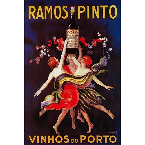 No Brands Ramos Pinto Vintage Werbung Kunstdrucke Wandbehang Dekorative Metallschild Home Decor Tin Art Sign Metallschild für Home Wall Decor