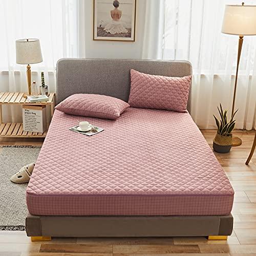 HAIBA Protector de colchón de algodón extra profundo para falda lateral, tamaño superking: algodón de calidad de hotel, extra comodidad y protección, 180 x 220 + 15 cm