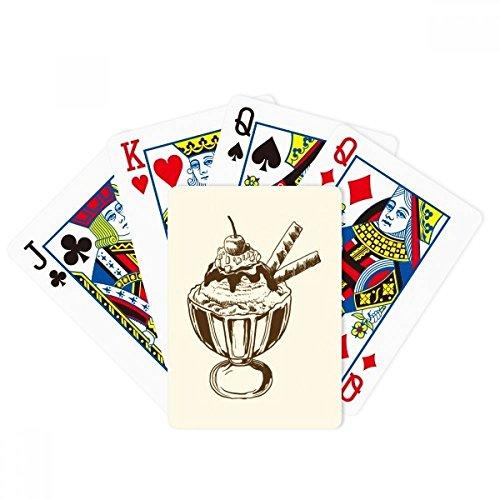 Cherry Chocolate Galletas Copa Ice Poker Jugar Magic Card Fun Juego de mesa