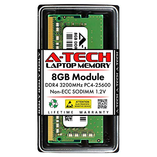 A-Tech 8GB DDR4 3200MHz SODIMM PC4-25600 Non-ECC Unbuffered CL22 1.2V 260-Pin SO-DIMM Laptop Notebook Computer RAM Memory Upgrade Module Louisiana