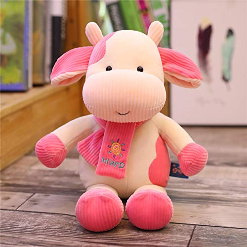 Hot Huggable New Cute Weiche Kuh Vieh Plüschtier Kawaii Kuscheltiere Plüsch Puppe Cartoon Spielzeug Schlafkissen Geschenk für Kinder 35cm