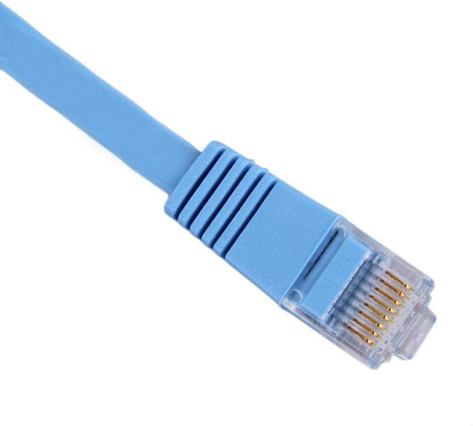 10.7 Meters Modem LAN CNE52879 PS3 PS4 Cat6 Flat Ethernet Cable 35 Feet Gigabit Lan Network Cable RJ45 High Speed Patch Cord for Xbox Blue 10.7M Router C/&E 35ft Switch Compatible Cat5e//Cat6 Network