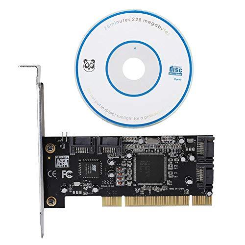 PCI-Controller-Karte, PCI-SATA-4-Port PCI-zu-4-interner SATA-Port 1,5 Gbit/s Sil3114-Chipsatz-RAID-Controller-Karte mit SATA-Schnittstelle, Unterstützung von Windows 98SE/Me/2000/XP/NT4.0/XP 64-Bit
