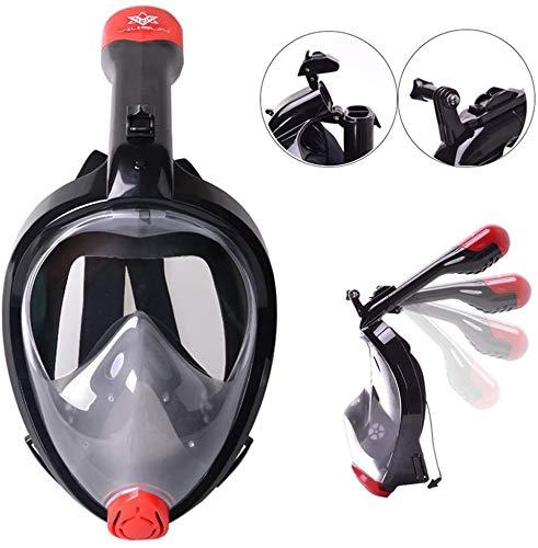 V VILISUN Vollmaske Schnorchelmaske Tauchmaske Vollgesichtsmaske mit 180° Sichtfeld, Dichtung aus Silikon Anti-Fog und Anti-Leck Technologie für Alle Erwachsene und Kinder