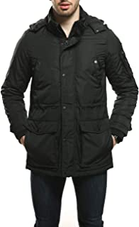 Men's Parka Water and Wind Proof Coat Zippered and Snapped Clouse Outerwear Jacket