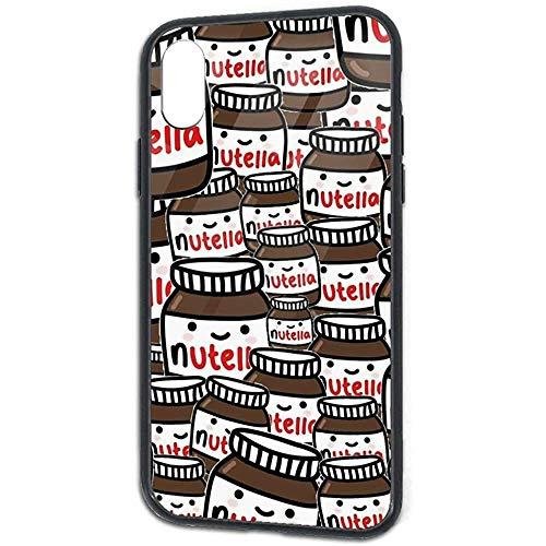 DZCP-y Funda de diseño Divertido para iPhone XR Fondos Tumblr Nutella Slim Protective Soft TPU Bumper Frame