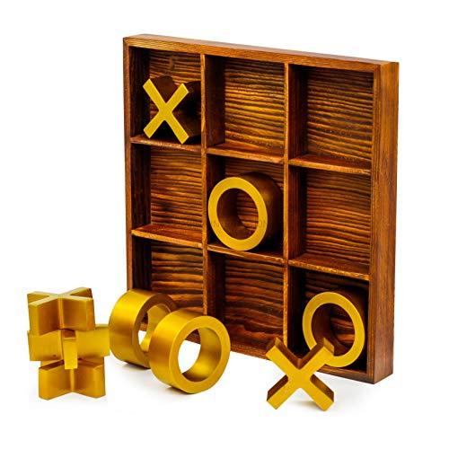 Nagina International's Large Elegant Premium 10 Pieces Tic Tac Toe Board Game for Adults & Kids  ...