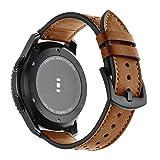 HappyTop Cuir véritable Bracelet de montre de remplacement pour Samsung Gear S3/Ticwatch/Moto360,...