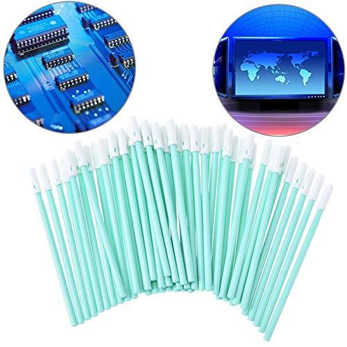 Totaal 100 stuks Foam Tip Wattenstaafjes Spons Stick for Inkjet Printer, printkop, Camera, Cleanroom, optische lens, detailleren
