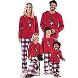 Pijamas Mujer Camisón Pijamas De Navidad A Juego con La Familia Año Nuevo Mamá E Hija Madre Papá Niña Niño Aspecto Familiar Ropa De Navidad Kids-140 Rojo
