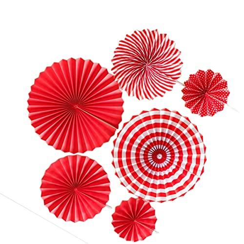 Abanicos de papel colgantes, 8 unidades, para decoración de cumpleaños, bodas, escuelas,...