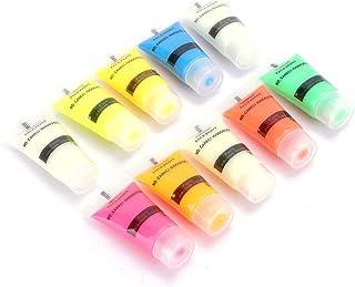 10 kleuren lichtgevend poeder pigmentpoeder noctilucent fosforescerende zelf-lichtgevende, fluorescerende poeder, lichtgev...