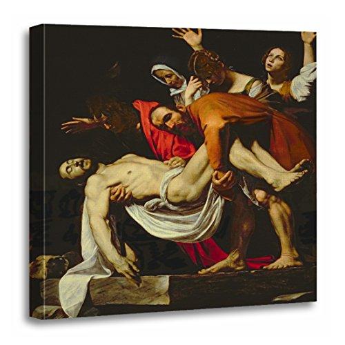 "TORASS Canvas Wall Art Print Fine Deposition 1602 4 Caravaggio Michelangelo Merisi 1571 Artwork for Home Decor 20"" x 20"""