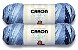 Caron Simply Soft Bulk Buy Ombres 100% Acrylic Yarn (2-Pack) ~ 5 oz. Skeins (Saturday Blue Jeans)