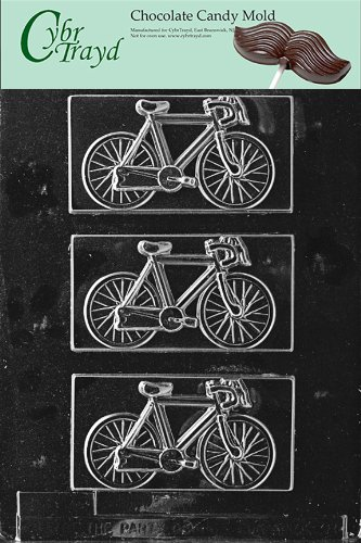 Cybrtrayd Life of the Party K038 Bicycle Bike Cycling Chocolate Candy Mold in Sealed Protective Poly Bag Imprinted with Copyrighted Cybrtrayd Molding Instructions