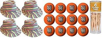 A&R Collectibles Inc Caddyshack Judge Smails Foursome Pack  Fedoras Tees Orange Bushwood Logo Golf Balls