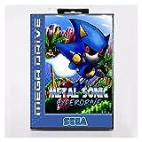 fleeting time GaoHR Metal Sonic HYPERDRIVE 16 bit MD Tarjeta de Juego con Ajuste de la Caja al por Menor para Sega Megadrive/Genesis HR (Color : EU Box)