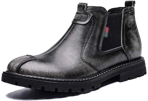 AEYMF Las Cálidas botas De Invierno De Chelsea para Hombre Calzan Las botas Martin para Ayudar A Los BritáNiños A Calzar Los Zapaños Retro.