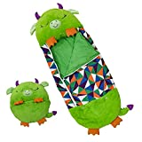Large Sleeping Bag for Kids and Toddlers - Super Soft Camping Sleeping Bag for Boys and Girls - Pillow Plush Character - Large 66 in x 26 in - Machine Washable - Great for Naptime, Playtime, Nursery