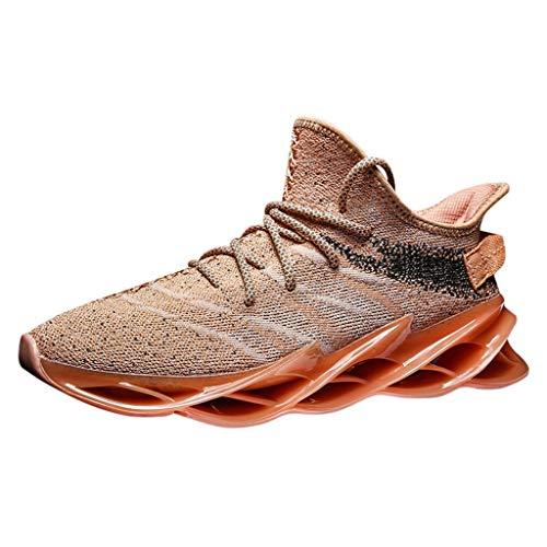 SHE.White Herren Laufschuhe,Herren Laufschuhe Lightweight Outdoor komfortablen Fitness Stoßdämpfung Trainer Sport Fitnessraum Sneakers Jogging Walking Schuhe 39-46