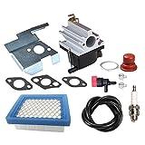 Panari 640020 Carburetor + Air Filter Tune Up Kit for Tecumseh 640020A 640020B VLV126 VLV60 VLV50 VLV55 VLV65 VLV66 VLV126A 6.5HP 6.75HP Engine Lawn Mower