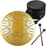 Ha-Drum 12インチ (十一音) スリットドラム タングドラム 打楽器 キャリーバッグ付き 瞑想ヨガ ロータスキー