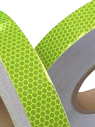 Tuqiang® Reflektierendes Klebeband, Farbe: Zitrone, hohe Intensität, 25mmx 2,5m