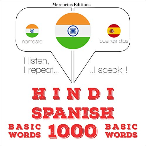 Hindi - Spanish. 1000 basic words cover art