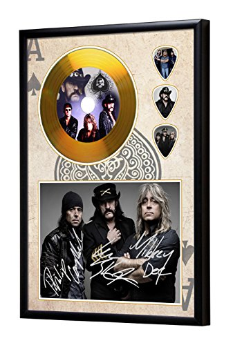 Motorhead Gerahmte CD Gold Disc Display & Plektren (A4)