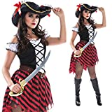 Morph Womens Sexy Pirate Wench Costume Female Pirates Dress Quality Outfit for Women - Large