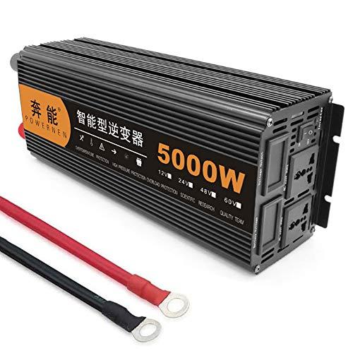 Voltage Converter DC 12V/24V/48V to AC 200V-240V, Modified Sine Wave Power Inverter 2200W/3200W/4000W/5000W/6000W/8000W/12000W, Car Inverter with AC Outlets and LED Digital Display, 12V to 220V, 5000W