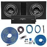Skar Audio Dual 10' Complete 4, 000 Watt EVL Series Subwoofer Bass Package - Includes Loaded Enclosure with Amplifier