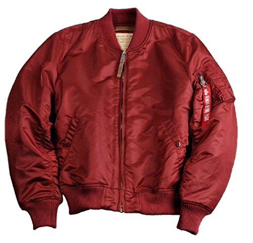 Alpha Industries MA-1 VF 59 - Giacca Bomber Burgundy Colore: rosso S