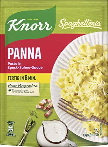 Knorr Spaghetteria Panna Fertiggericht Pasta (in Speck-Sahne-Sauce) 1 x 153 g